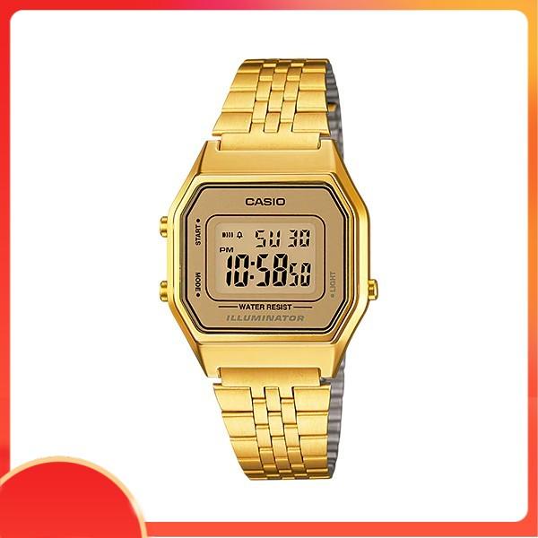 Đồng hồ nữ dây thép Casio chính hãng Anh Khuê LA680WGA-9DF (29)