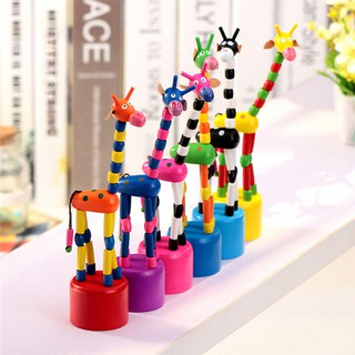 Hand Long Presses To Move Giraffe Dancing Deer Thumb Toy