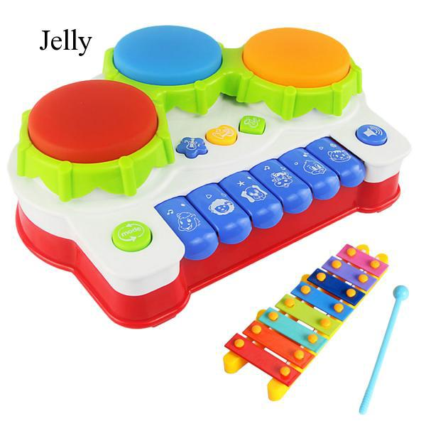 Baby Drums Piano Music Learning Toy Musical Xylophone for Educational Game J87