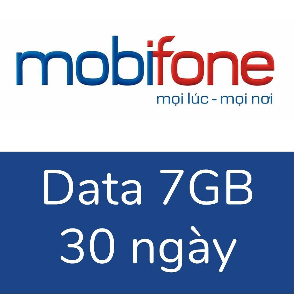 Gói data 3G/4G Mobifone 7GB, 30 ngày