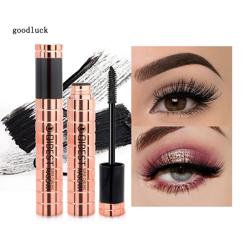 GLK_QIBEST 4D Waterproof Non-smudge Mascara Curly Thick Eyelash Extension Makeup