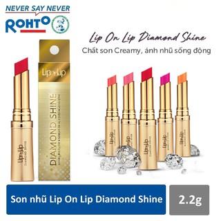 Son Lip On Lip Diamond Shine màu đỏ mận thumbnail