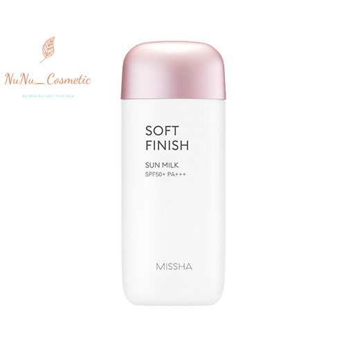 Kem chống nắng dạng sữa Missha All Around Safe Block Velvet Finish Sun Milk SPF50+ PA++++ 70ml