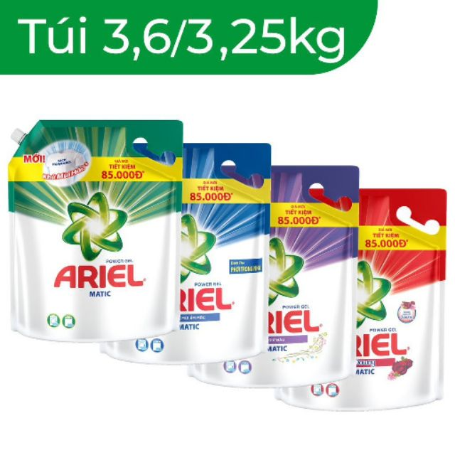 Nước giặt ariel 3.6kg / 3.25kg / 2.4kg đậm đặc