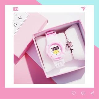 Đồng hồ điện tử trẻ em thời trang dây cao su DH81 thumbnail