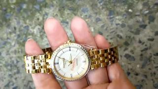 Đồng hồ nữ siêu mỏng Sunrise 2217AB Đính Đá kính Sapphire chống xước - Fullbox chính