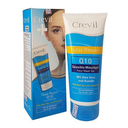 Gel rửa mặt ngừa mụn Crevil Total Repair Q10 Face Wash Gel 200ml