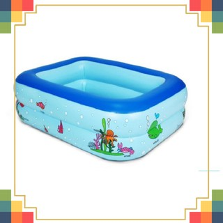 [CỰC HOT] Bể Bơi 2 Tầng Hình Vuông Cho Bé 120*95*32cm