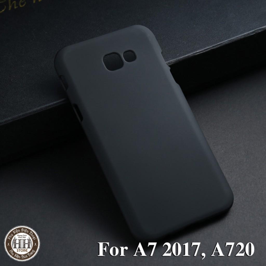 (Samsung A7 2017, A720) Ốp lưng Samsung A7 2017, A720, Case nhựa, màu đỏ, đen.