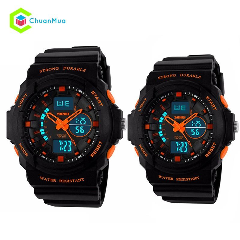 Đồng hồ Đôi Skmei 0955 Điện Tử DHA431 - Trung Kim Cam
