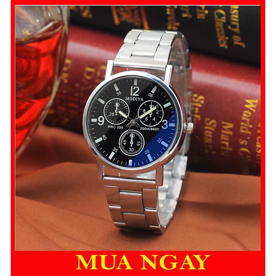 Đồng hồ nam đeo tay cao cấp dây kim loại Modiya siêu đẹp DH100