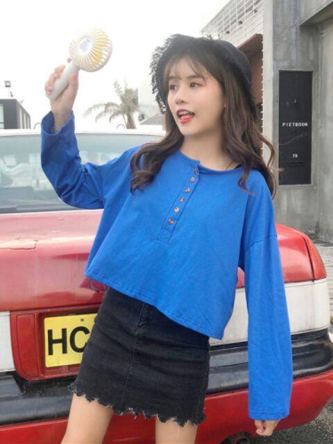 Sơ mi nữ mùa thu mới của phụ nữ Hàn Quốc giản dị , hoang dã t357