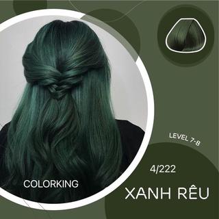 Thuốc nhuộm tóc màu Xanh Rêu - Rêu đậm - Gren ( không tẩy ) nền 4-5-6 thumbnail