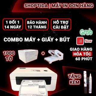 [Mã ELCLDEC giảm 7% đơn 500K] Combo máy in đơn hàng + 1000 giấy in đơn hàng a6 + khay đựng giấy máy in Shoptida HPRT N41 thumbnail
