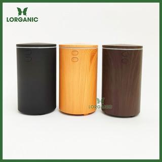 Combo máy khuếch tán máy xông tinh dầu ô tô (xe hơi) Lorganic FX2069 + tinh dầu cam Lorganic (10ml). cáp sạc USB thumbnail