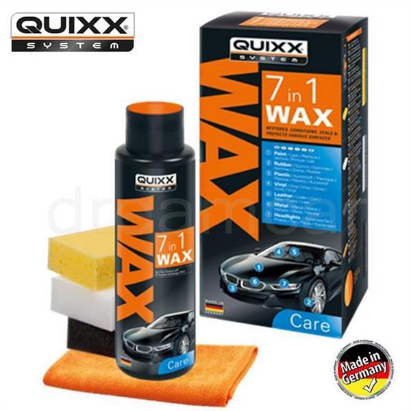 Bộ sáp đánh bóng nội ngoại thất ô tô Quixx 7in1 (Tặng khử mùi Power Air bất kỳ)
