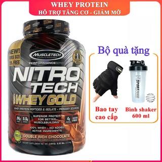 Sữa tăng cơ giảm mỡ Nitro Whey Gold của Muscletech hương Chocolate hộp 76 lần dùng - Chính hãng thumbnail
