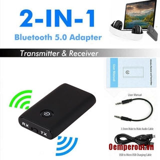 ✨OUT Bluetooth 5.0 Transmitter and Receiver 2-in-1 Wireless Audio Aux 3.5mm Adapter