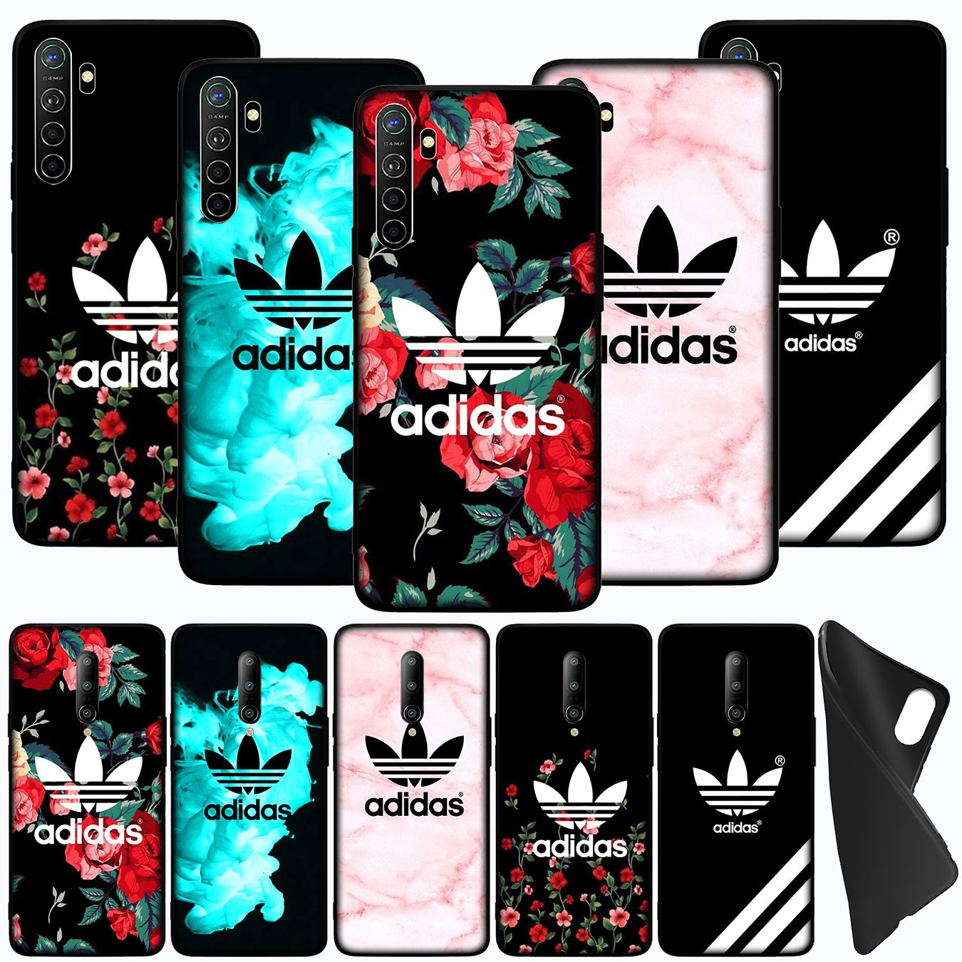 Ốp Điện Thoại Silicon Mềm In Logo Adidas Cho Oppo Realme C17 C15 C12 C11 C3 C2 A5 7 7i 2 Narzo 20 Pro 6i