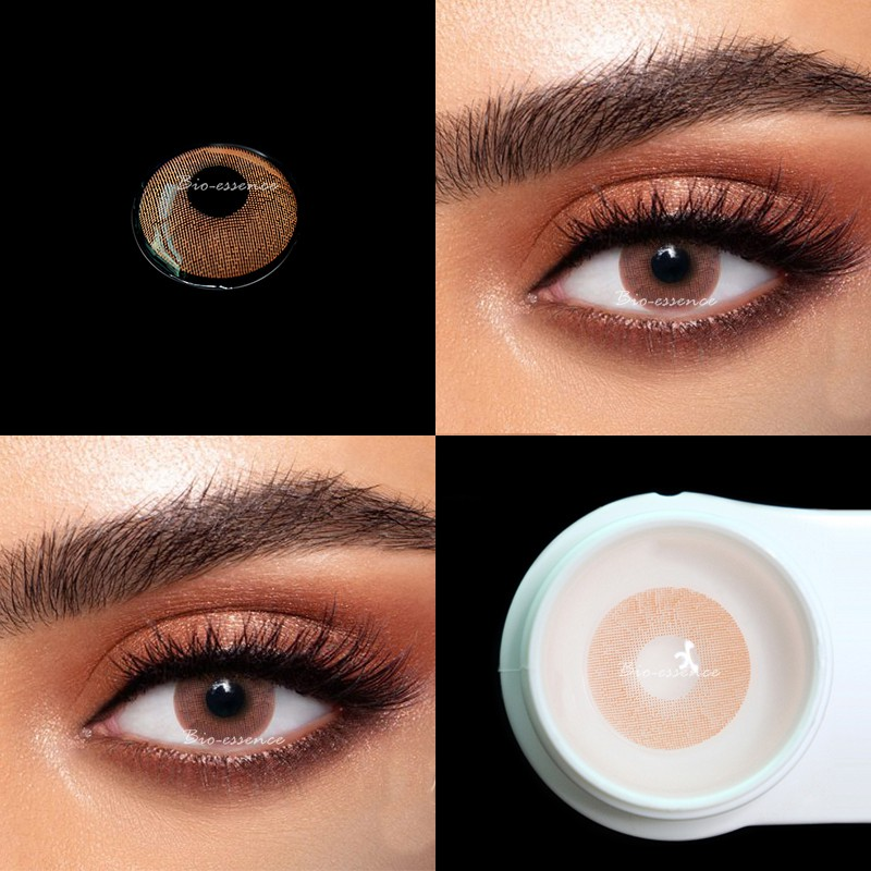 UYAAI 2Pcs/pairs Contact Lenses For Eyes Natural Cosmetics For Eyes Beauty Blue contact lens Lemon series Chestnut