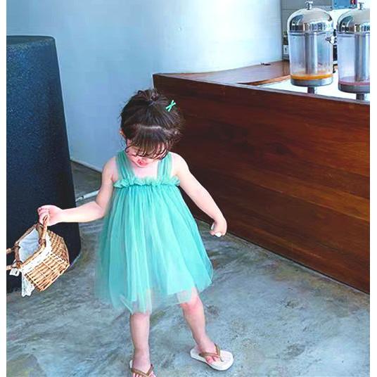 Váy đầm công chúa, voan 2 lớp cao cấp cho bé gái từ 8 đến 18kg vải voan thoáng mát thấm hút mồ hôi