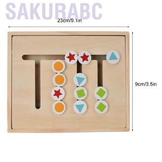 Sakurabc Children Educational Toy Four-Color Wooden Blocks Logical Thinking Training Toys