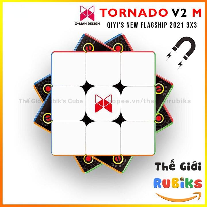 🔥Siêu Phẩm 2021🔥 Rubik Tornado V2 M 3×3 QiYi X-Man Tornado V2M Flagship 2021 Rubic 3×3 Nam Châm Cao Cấp Đồ Chơi Trí Tuệ