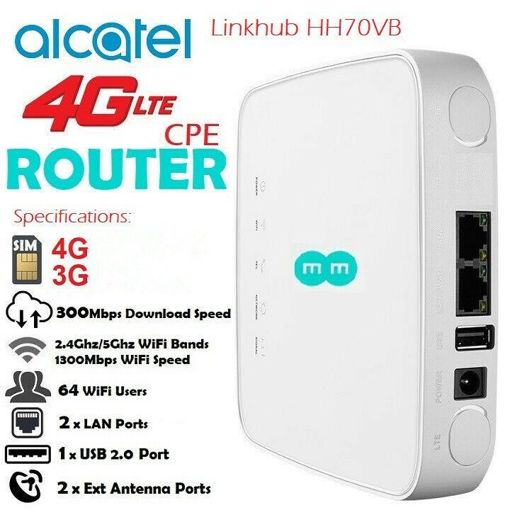 Bộ Phát Wifi 4G Alcatel HH70  đa mạng – Tốc độ 300Mbps – Hỗ trợ hai băng tần – Chuẩn AC - viễn thông HDG