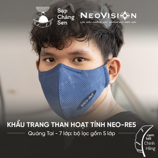 Khẩu Trang Than Hoạt Tính NeoMask Neo-Re5 (Qua Tai) thumbnail