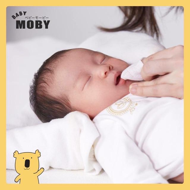 Rơ lưỡi cho trê sơ sinh Moby chính hãng