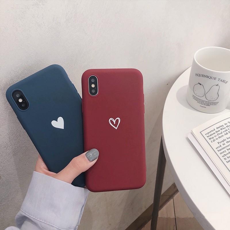 Ốp điện thoại TPU mềm in hình trái tim màu kẹo cho Iphone X / 6 / 7 / 8 / Plus Xr Xs Max