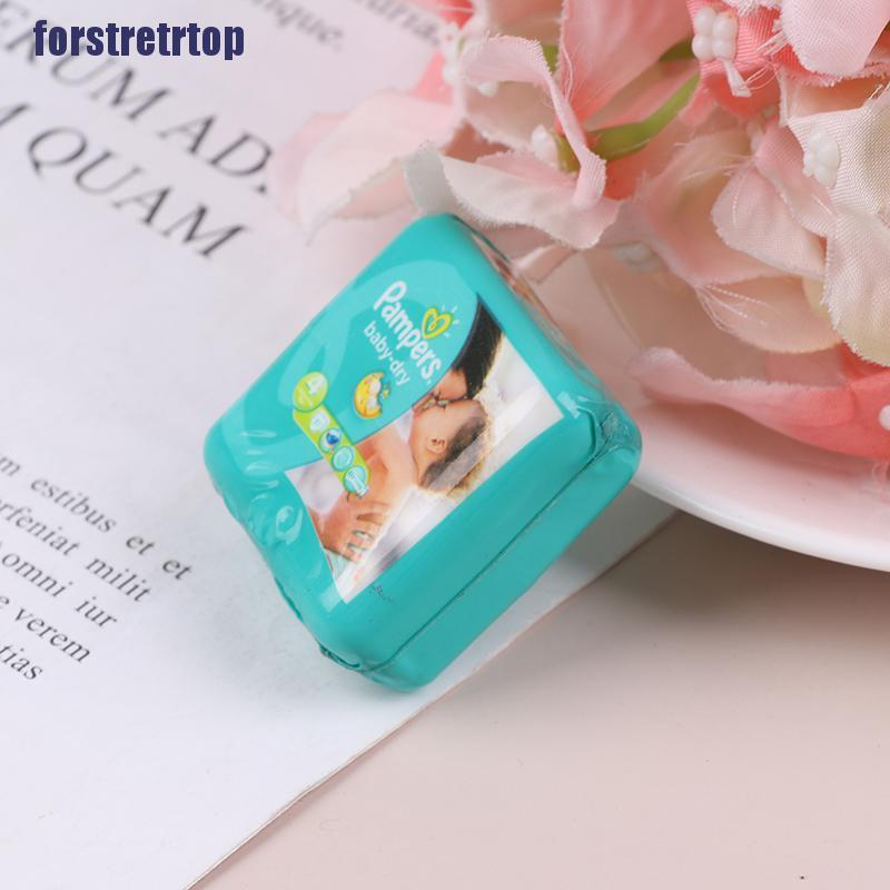 【FSTTTOP】1/12 Dollhouse Miniature Baby Diaper Model For Dolls House Accessorie