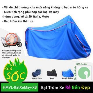 Yêu Thích[Sale khủng] Bạt phủ trùm xe máy che mưa nắng dòng xe lớn SH, Moto - HMVL-BatXeMay-XB (Nhiều màu)