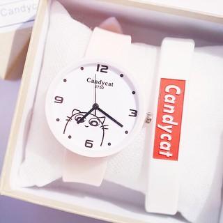 (Giá sỉ) Đồng hồ thời trang nam nữ Candycat mèo Kute dây silicon mẫu cực hot