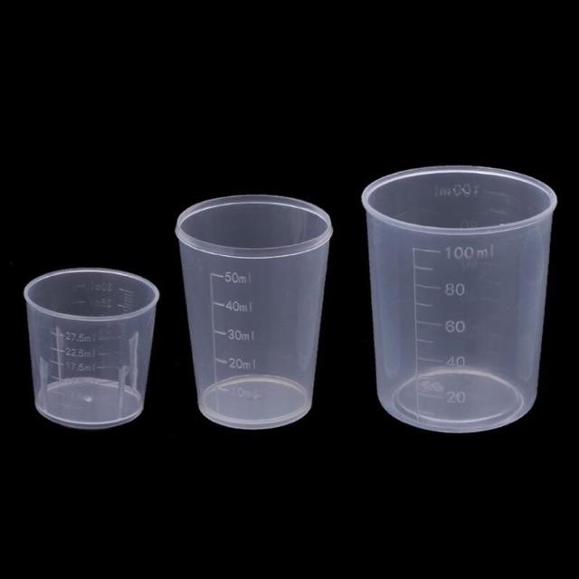 Cốc nhựa có chia vạch 30ml, 50ml, 100ml