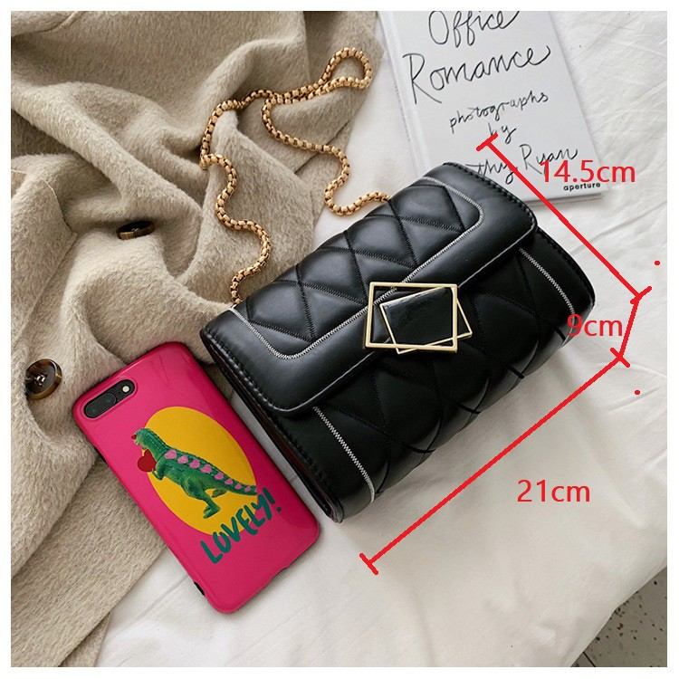 Túi xách đeo chéo nữ, túi xách nữ cao cấp khóa gương CHIP XINH TX24