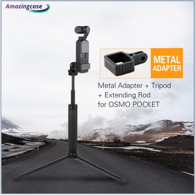 For DJI OSMO POCKET Gimbal GOPRO Camera Aluminum Alloy Adapter Kit Tripod Mount