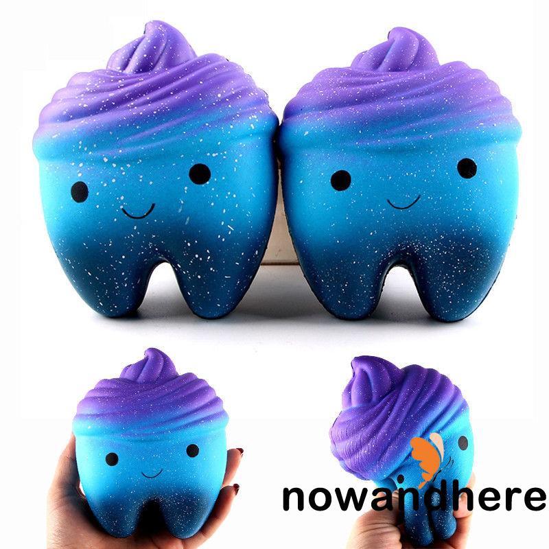 HNE-Soft 12cm Teech Jumbo Teeth Slow Rising Squishies Scented Kids Squishy