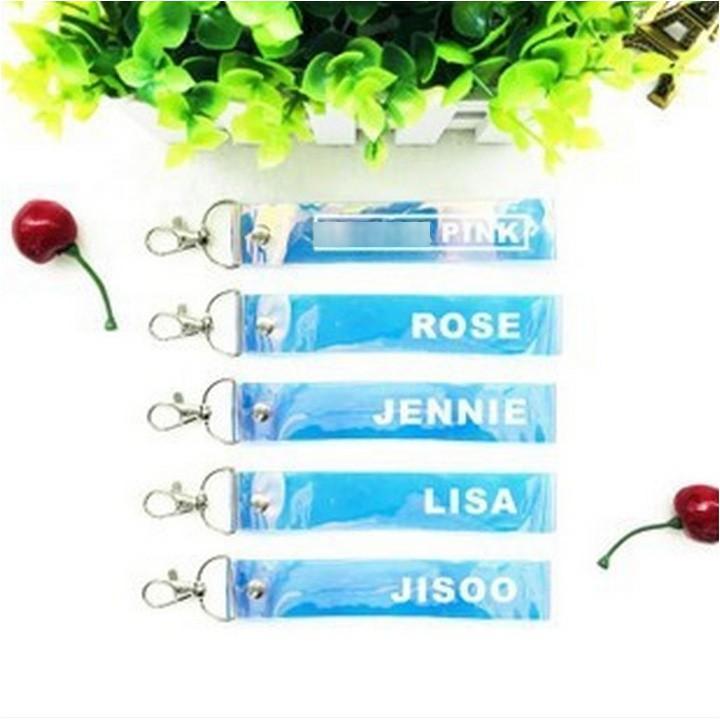 Nametag trong Blackpink Lisa Jisoo Jennie Rose in màu đa dạng phụ kiện thần tượng