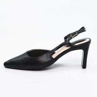Sandal cao gót 7cm Cewra slingback quai mềm mũi nhọn da vân