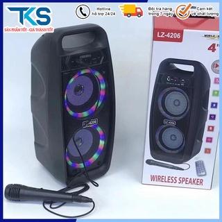 [mua 1 tặng 1]Loa Karaoke Bluetooth LZ-4206 Công Suất Lớn Âm Thanh Khuếch Đại Gấp Nhiều Lần,Có Tặng Kèm Míc Có Dây thumbnail