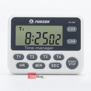 Đồng hồ pomodoro hẹn giờ đếm ngược 4 kênh