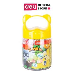 Đất nặn nhiều màu Deli - có khuôn đi kèm - Chất liệu an toàn cho trẻ nhỏ - 12 24 màu - 01 hộp nhựa - ED75246 ED75286 thumbnail