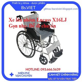 Xe lăn hợp kim nhôm Lucass X16LJ- Xe lăn cho người già, người khuyết tật, chống han gỉ, độ bền cao, gấp gọn dễ di chuyển thumbnail