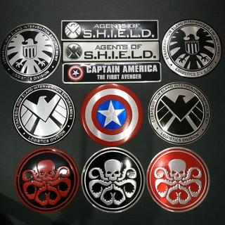 """Tem Nhôm tròn 7.5cm Captain - Hydra - S.H.I.E.L.D siêu chất giá chỉ còn <strong class=""""price"""">800.000.000đ</strong>"""