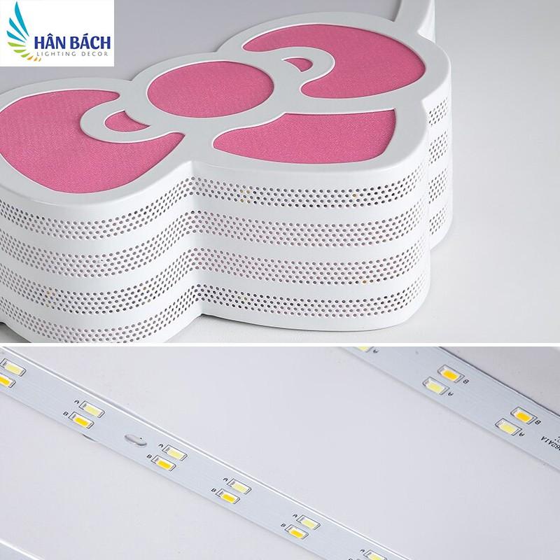 Đèn Mâm LED Ốp Trần Trang Trí Phòng Ngủ Cho Bé Trai Bé Gái Mèo Kitty Led 3 Chế Độ Màu