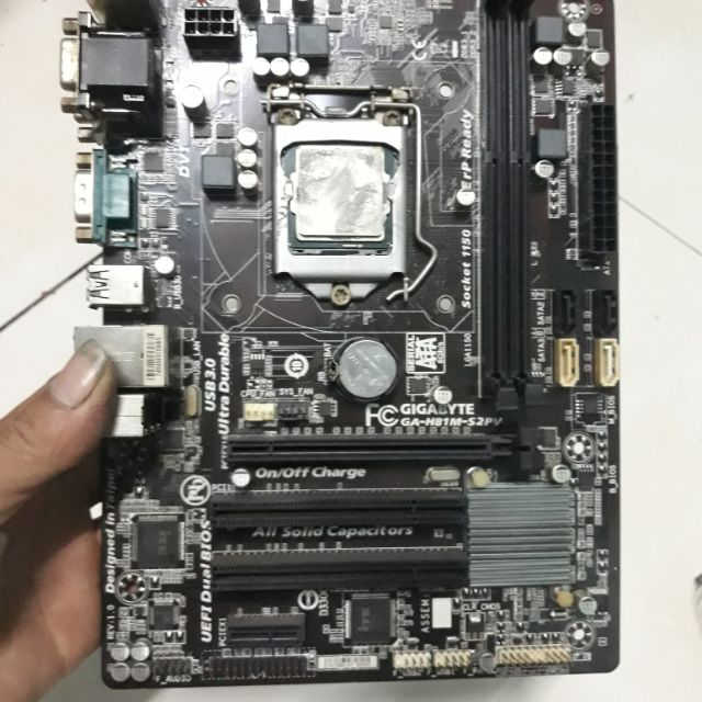 Main máy tính gigabyte h81m_s2pv +cpu g3420 Giá chỉ 500.000₫