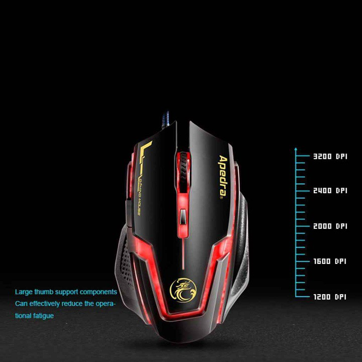 Chuột Gaming Apedra A9 – Chính hãng – Led đổi màu – Độ nhạy 3200 DPI – Bảo hành 12 tháng