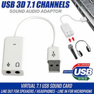 Usb Sound Có Dây 7.1 ( Cáp Chuyển Đổi Từ USB ra âm thanh cổng 3.5)- Full Box- Bảo Hành 1 Tháng - 1 Đổi 1
