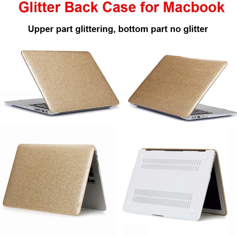 màu long lanh Case Ốp lưng bảo vệ Macbook Air 11.6 11 12 Pro 15.4 Retina 13 13.3 Touch Bar 15 Vỏ vàng bạc Hồng màu